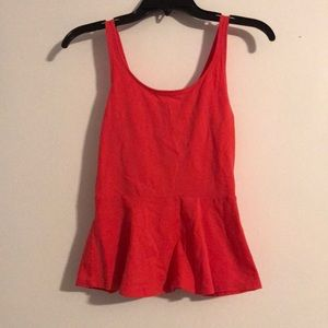 Orange Peplum tank